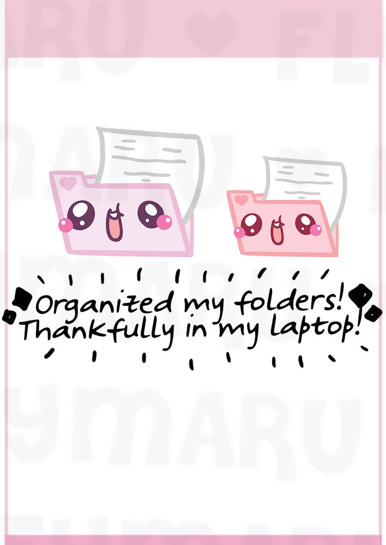Document Files  Planner Stickers Cute Stickers for Erin image 0