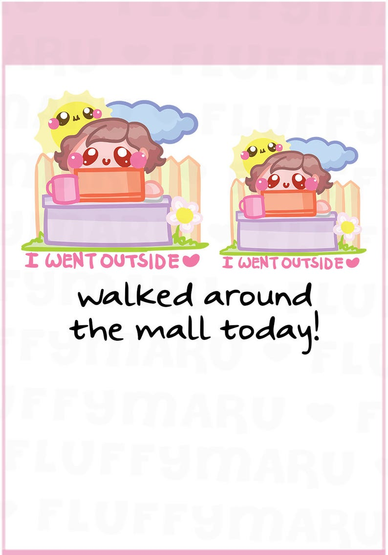 Outside Sammie  Planner Stickers Cute Stickers for Erin image 0