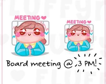 Meetings Sammie    Planner Stickers, Cute Stickers for Erin Condren (ECLP), Filofax, Kikki K, Etc.    SFS58
