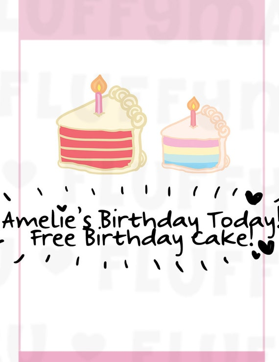Birthday Cake Slice Planner Stickers Cute Stickers For Etsy