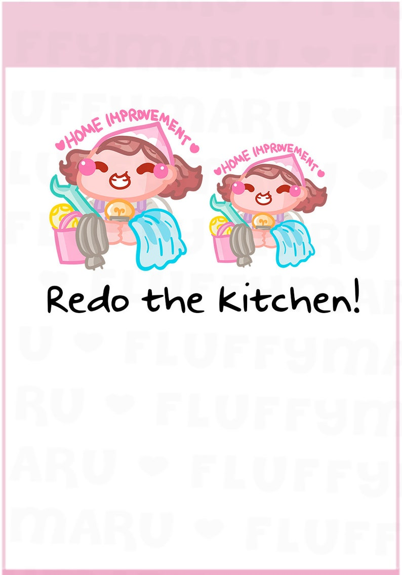 Home Improvement Sammie  Planner Stickers Cute Stickers for image 0