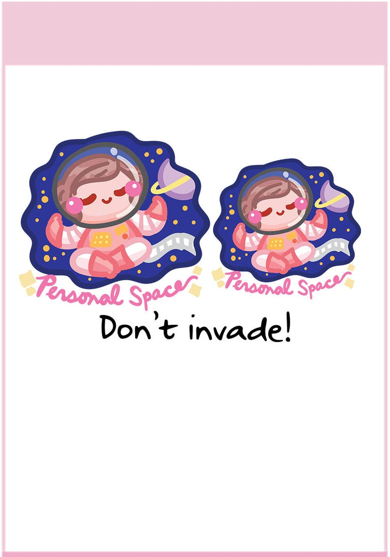 Personal Space Sammie  Planner Stickers Cute Stickers for image 0