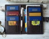 Family passport holder , 6 passport holder leather travel wallet 4 passport holder 8 passport holder 10 passport holder