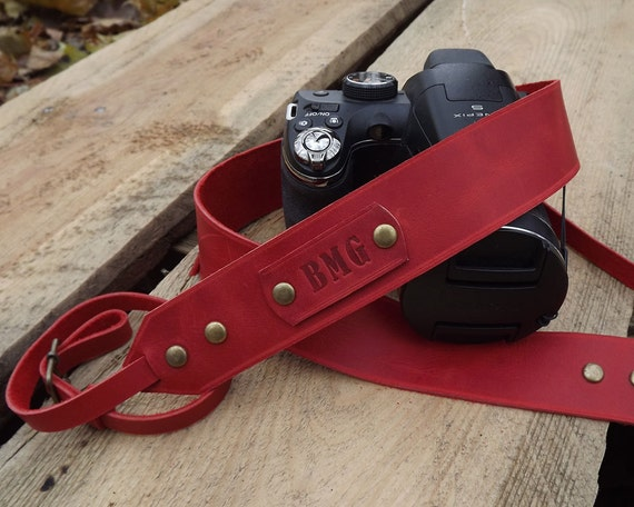 leather camera strappersonalized camera strap leather