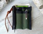 EDC pocket organizer mini edc edc organizer Cordura EDC Wallet edc pouch edc pocket Slip edc slip case