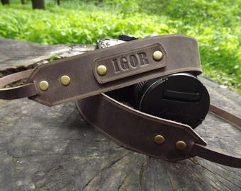Leather Camera Strap Personalized camera strap leather, Gift for Photographer/Canon camera strap/Nikon camera strap\Camera Strap