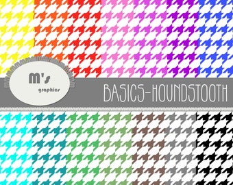 Digital Paper Background Pack Houndstooth Rainbow Colours. 14 digital papers. Scrapbook Invitations Decorations  sc 1 st  Etsy & Houndstooth paper | Etsy