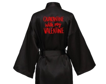Valentine Gift Personalised Robe Available in 40 Colours