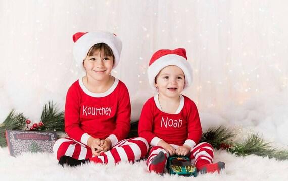 Matching Christmas Pajamas.Christmas Pajamas Matching Christmas Pajamas Embroidered Monogram Christmas Pj S Christmas Pajamas For The Family