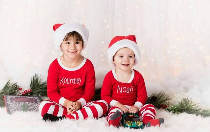 8953c18156 Christmas Pajamas Matching Christmas Pajamas Embroidered