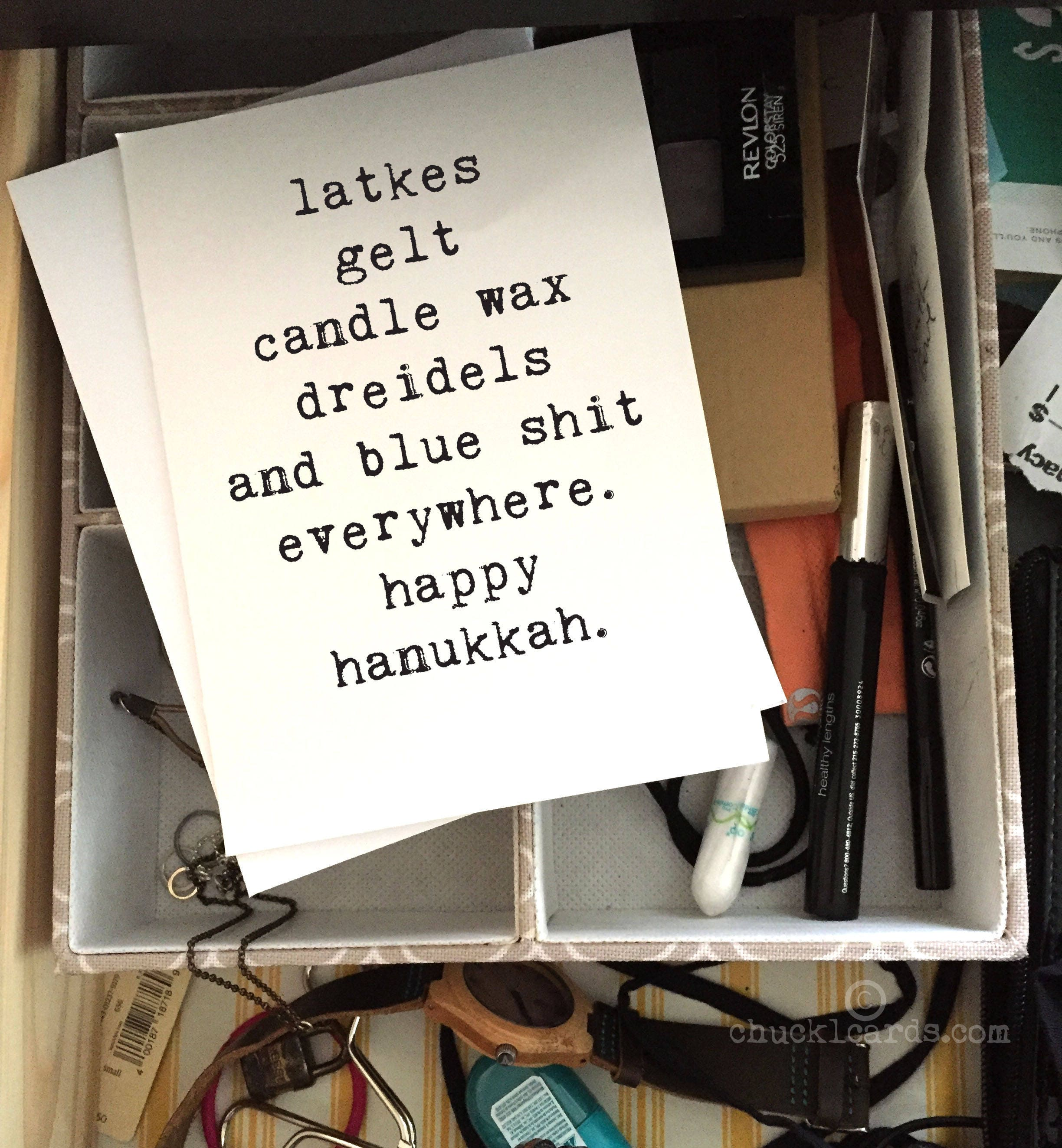 Funny Hanukkah Card Jewish Humor Hanukkah Card Greeting Etsy