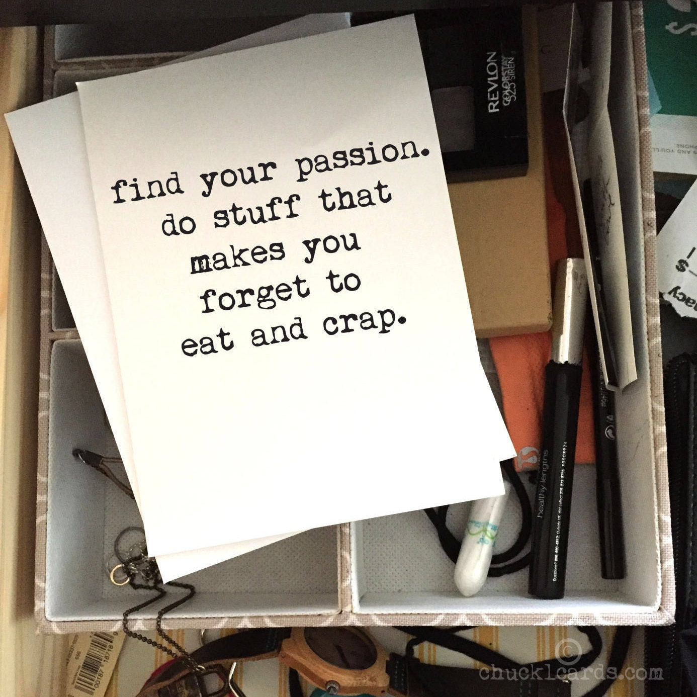 Find Your Passion Greeting Cards Bathroom Humor Card Funny Etsy