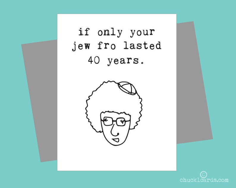 Customizable Birthday Funny Jewish