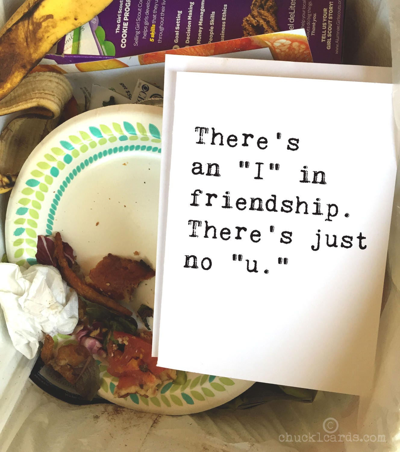 Theres No I In Friendship Greeting Cards Breakup Card Funny Card