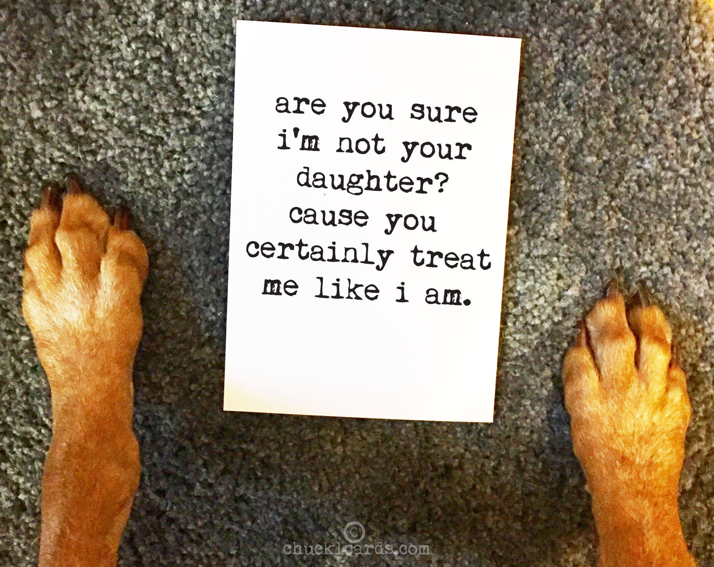 Greeting Cards Are You Sure Im Not Your Daughter Mothers Day Card