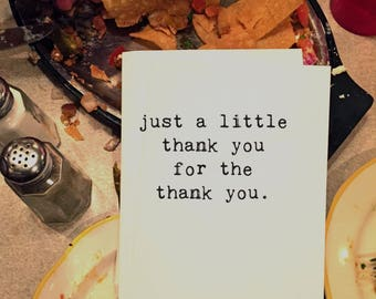 Thank You Card, Chucklcards, Wholesale, Blank Inside, Any Occasion, Card for Him, Card for Her, Card for Anyone, Thank you for the Thank You