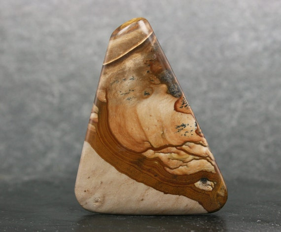 Ble photo Jasper Cabochon, Cabochon, Jasper Cabochon en pierre jaspe ble, grand Triangle lâche Pierre, Designer de bijoux pierre focale, collectionneur Pierre ad0712