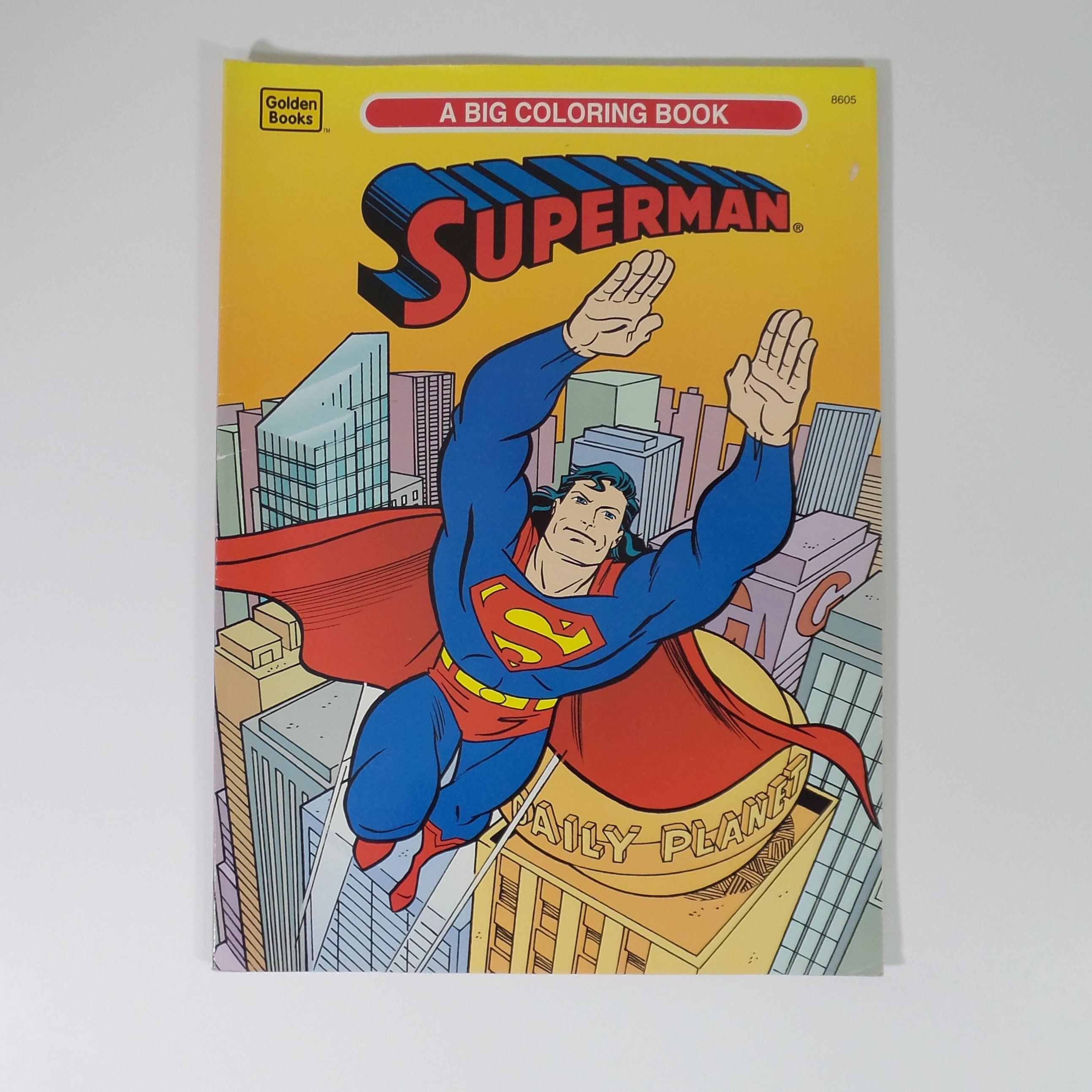 Superman Big Coloring Book By Golden 1995 Vintage New Unused | Etsy