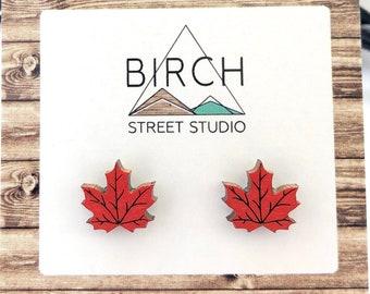 Maple Leaf Earrings, Canada Day Earrings, Canada Earrings, Autumn Leaf Earrings, Nature Earrings, Canadian Jewelry