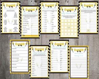 Bumble of Joy Baby Shower Game and Advice Card Printable's