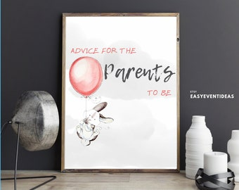 Up Up and Away Advice for Mom   Up Up and Away Advice for Parents   Printable   Instant Download