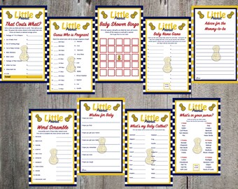 Little Peanut Baby Shower Game and Advice Card Printables
