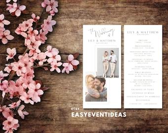 Wedding Program   Wedding Program   Personalized Wedding Program   Customizable Printable JPG PDF   Printed Wedding Program