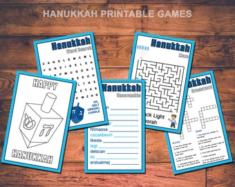 Hanukkah Kids Printable Games Instant Download