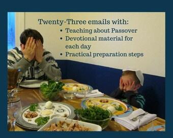 Email Series: Christian Passover.  Communion.  Seder Script, Haggadah.  Homeschool. Bible Study. Church. Family Devotions.