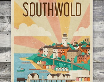 Southwold - Poster (A4 & A2 Sizes)
