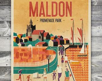 Maldon - Promenade Park - Poster (A4 & A2 Sizes)