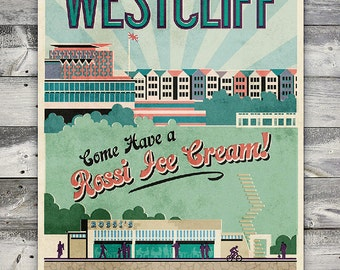 Westcliff - Poster (A4 & A2 sizes)