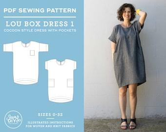 Lou Box Dress 1 PDF Women's Sewing Pattern