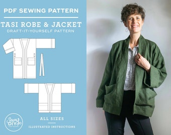 Tasi Robe and Jacket - A Draft-it-Yourself Unisex PDF Sewing Pattern