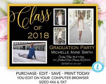 college graduation invitation etsy