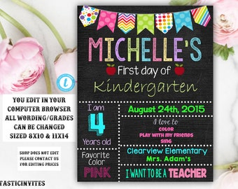 First Day Of School Sign Etsy