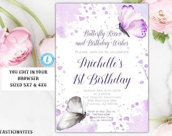 Butterfly invitation | Etsy