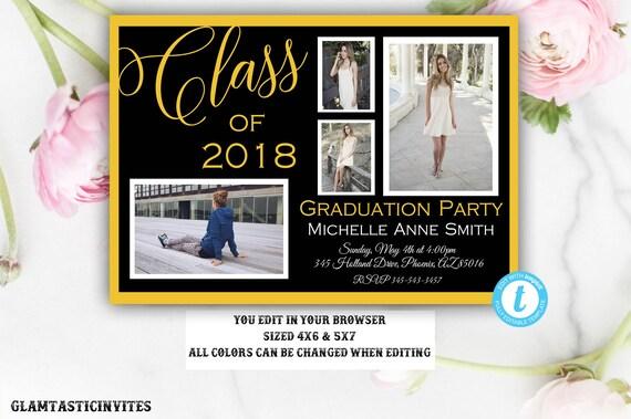 graduation invitation grad invite graduation template class of