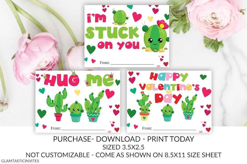 Cactus Valentine Tags, Whale, Turtle, Teacher, Kid Valentine, Cactus,  School, Valentine, Classroom Valentine, Instant Download, Be Mine, DIY