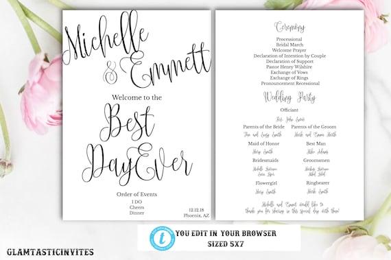 Printable Instant Download Script Cheap Online Wedding