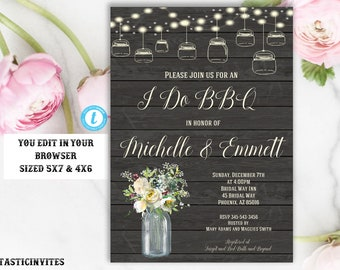 I Do BBQ Couples Shower Invitation, BBQ Couples shower, Bbq Invitation, I Do BBq Invitation, I Do Bbq, Couples Shower, Instant Download