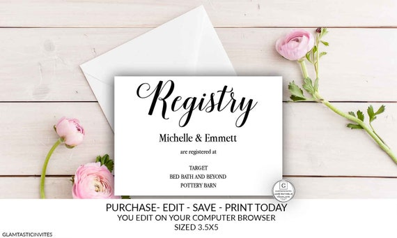 Wedding Registry Card Template Free from i.etsystatic.com