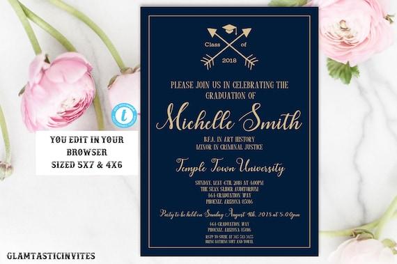 graduation invitation template instant download graduation invite