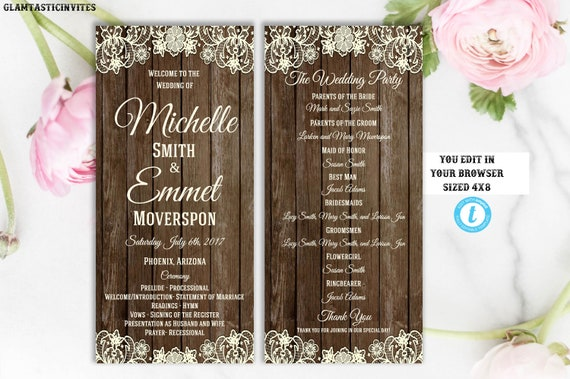 wedding programs rustic online wedding programs cheap wedding