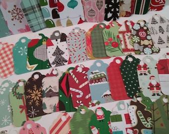 Christmas gift tags, Holiday gift tags, Variety gift tags, Bulk gift tags, Set of 25 or 100