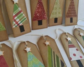 Christmas tree tags, Christmas tags, Holiday tags, Gift tags, Rustic Christmas tags