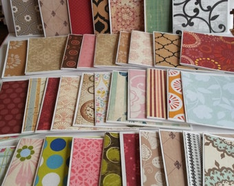 Mini note cards, Bulk mini note cards, Mini notecards variety, Assorted mini note cards, Set of 25 or 100, 3 x 3 cards