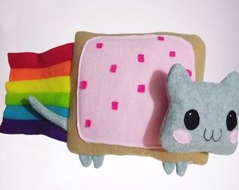 Nyan Cat Plush Pillow   Gift for kids, meme plush,meme gifts,Birthday gift,Nyan Cat Plush, Kawaii Plush, Collectible Gift, Couple's gift