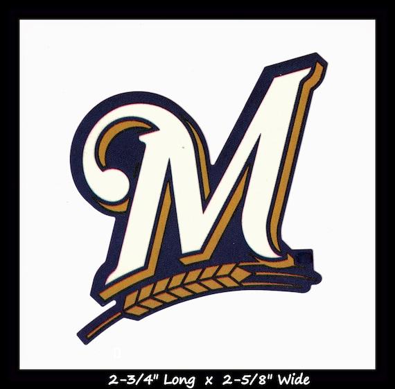 Milwaukee Brewers Team Logo Car Magnet Retro