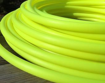 PREORDER (ships 6/27) HDPE UV Yellow hula hoop 5/8 and 3/4